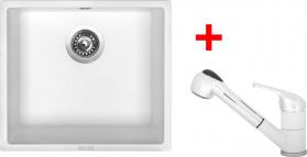Granitový dřez Sinks FRAME 457 Milk+CAPRI 4S GR ACRF457CA4S28