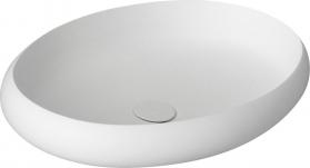 Sapho THIN oválné umyvadlo na desku, 60x40x11, 2cm, bílá mat WN213