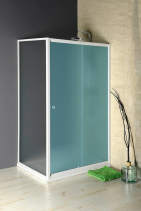 Aqualine AMADEO boční stěna 800 mm, sklo BRICK BTP80
