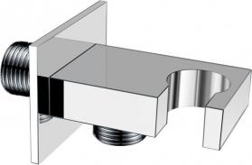 Sapho Držák sprchy, hranatý, pevný, s vyústěním, chrom AQ591