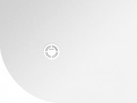 Polysan FLEXIA vanička z litého mramoru čtvrtkruh, s možností úpravy rozměru, 90x80x2, 5cm, R550, pravá 91231