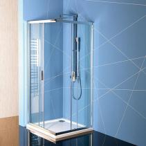 Polysan EASY LINE čtvercová sprchová zástěna 800x800mm, čiré sklo EL5215