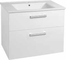 Aqualine VEGA umyvadlová skříňka 82x67, 6x43, 8cm, 2xzásuvka, bílá VG083