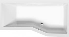 Polysan VERSYS R asymetrická vana 160x84x70x47cm, bílá 15611