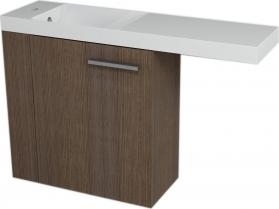 Sapho LATUS VI umyvadlová skříňka 50x50x22cm, levá, Borovice rustik 55865