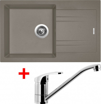 Granitový dřez Sinks LINEA 780 N Truffle+PRONTO LI78054NPRCL