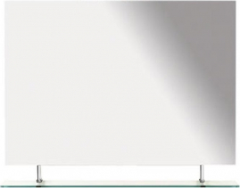 Sapho WEGA zrcadlo 1000x800mm, s policí 60092