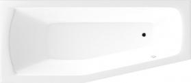 Aqualine OPAVA vana 160x70x44cm bez nožiček, levá, bílá C1670