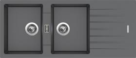Granitový dřez Sinks PERFECTO 1160 DUO Titanium ACRPE1160500272