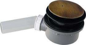 Kerasan RETRO vaničkový sifon, průměr otvoru 90 mm, krytka bronz 905693