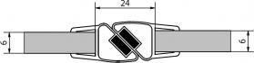 Polysan Sada dvou těsnění (magnet) na 6mm sklo, 2000mm M127