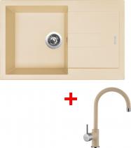Granitový dřez Sinks AMANDA 780 Sahara+VITALIA GR AM78050VIGR50