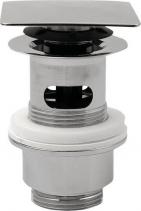 Omp Tea Uzavíratelná hranatá výpust pro umyvadla s přepadem Click Clack, V 32-52mm, chrom 8540.360.5
