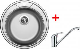 Nerezový dřez Sinks ROUND 510 V+VENTO 4 RO510VVE4CL