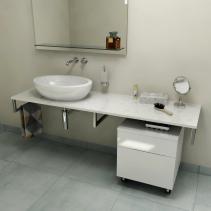 Sapho OLIVER deska 60x2x50cm, technický mramor, Calacatta OV060-1219