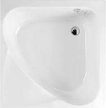 Polysan CARMEN hluboká sprchová vanička, čtverec 90x90x30cm, bílá 29611
