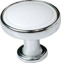 Sapho Úchytka pr.30mm, chrom/bílá 12310