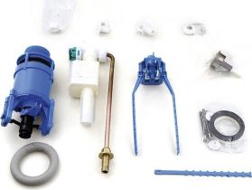 Kerasan RETRO úsporný splachovací mechanismus na WC kombi, bronz 750993