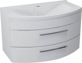 Sapho JULIE umyvadlová skříňka 90x50x50cm, 2 zásuvky, bílá (59905) JU090-3030
