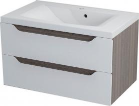 Sapho WAVE umyvadlová skříňka 79, 7x45x47, 8cm, bílá/mali wenge WA080
