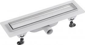 Polysan TILE plastový sprchový kanálek s nerezovým roštem pro dlažbu, 455x123x68 mm 72836