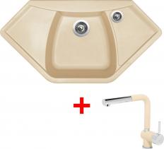Granitový dřez Sinks NAIKY 980 Sahara+MIX 3P GR TLN980MI3P50