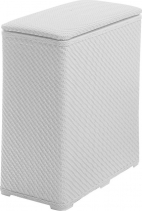 Aqualine AMBROGIO koš na prádlo 50x55x28 cm, bílá 203802