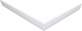 Polysan KARIA 120x100 rohový panel, výška 11 cm, levý 26712L