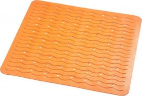 Ridder PLAYA podložka 54x54cm s protiskluzem, kaučuk, oranžová 68414