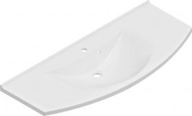 Sapho ARAS umyvadlo 120x50, 5cm, litý mramor, bílá 91211