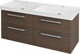 Sapho THEIA dvojumyvadlová skříňka 116x50x44, 2cm, 4xzásuvka, borovice rustik TH126
