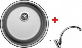 Nerezový dřez Sinks ROUND 450 V+EVERA RO450VEVCL