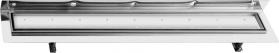 Sapho CORNER 87 nerezový sprchový kanálek s roštem pro dlažbu, ke zdi 870x130x82 mm FP521