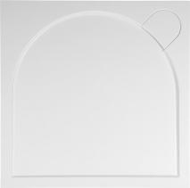 Gelco LARCA sprchová vanička z litého mramoru, čtverec, 100x100x3cm PL001