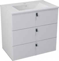 Sapho MITRA umyvadlová skříňka, 3 zásuvky, 74, 5x70x45, 2 cm, bílá MT081