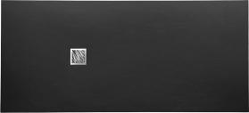 Gelco MITIA sprchová vanička z litého mramoru, obdélník 200x90x3 cm, černá PM20090C