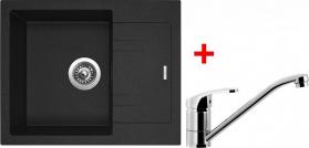 Granitový dřez Sinks LINEA 600 N Granblack+PRONTO LI60030NPRCL