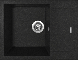 Granitový dřez Sinks AMANDA 650 Granblack TLAM65050030