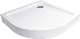 Mereo Čtvrtkruhová sprchová vanička R550, 80x80x14 cm, SMC, bílá, včetně nožiček a sifonu CV11H