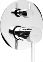 Sapho RHAPSODY podomítková sprchová baterie, 2 výstupy, otočný přepínač, chrom 5583Q