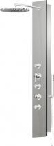 Polysan FLAT OVAL sprchový panel 210x1390mm, Aluminium 80622-1300