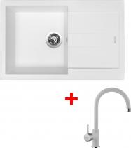 Granitový dřez Sinks AMANDA 780 Milk+VITALIA GR AM78028VIGR28