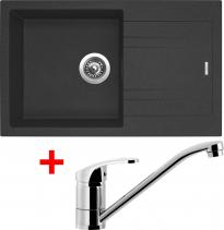 Granitový dřez Sinks LINEA 780 N Granblack+PRONTO LI78030NPRCL
