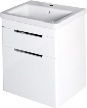 Sapho ELLA umyvadlová skříňka 46, 5x65x38, 5cm, 2xzásuvka, bílá 70052
