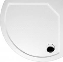 Gelco DITA80 sprchová vanička z litého mramoru, čtvrtkruh 80x80x4cm, R590 GD608