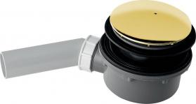 Kerasan RETRO vaničkový sifon, průměr otvoru 90 mm, krytka zlato 905691