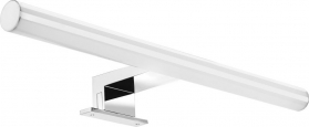 Aqualine KRONAS LED svítidlo 6W, 230V, 400x40x100mm, plast, chrom KA400