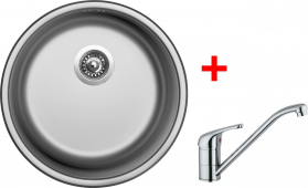 Nerezový dřez Sinks ROUND 450 V+VENTO 4 RO450VVE4CL