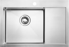 Sapho KIVA nerezový dřez s odkapem, 69x48x20 cm, provedení L, R10 EP531L
