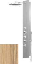 Polysan FLAT OVAL sprchový panel 210x1390mm, Kokos 80622-0335